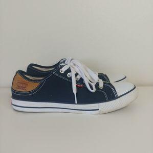 Levis navy blue lace up shoes